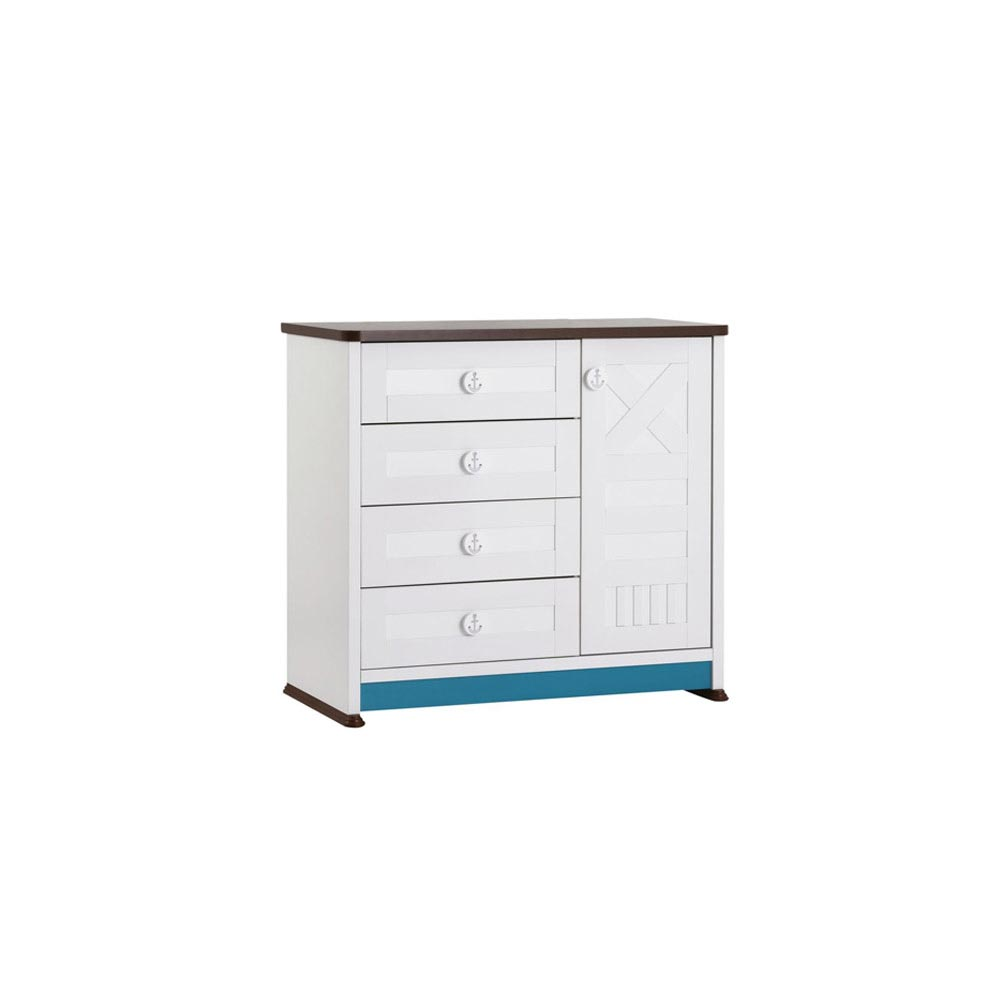 Sailing Baby Contemporary 5 Drawer Dresser