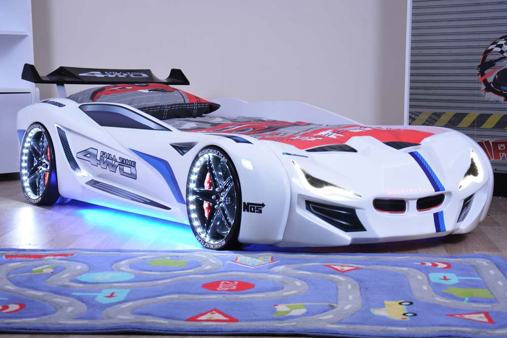 Car Beds For Novel Kids Bedroom To Enhance Creativity And