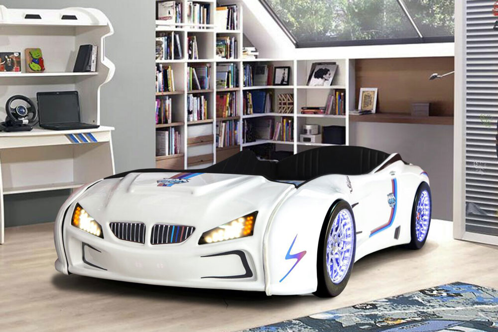 Could a themed racing car bed in a boy's room lead to a higher self - esteem and better mental health development?