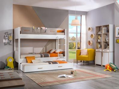 Timeless Bunk Bed With Trundle