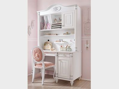 Romantic Kids Desk With Storage