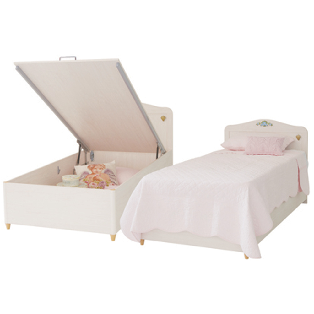 Flora Girls White Bed With Storage