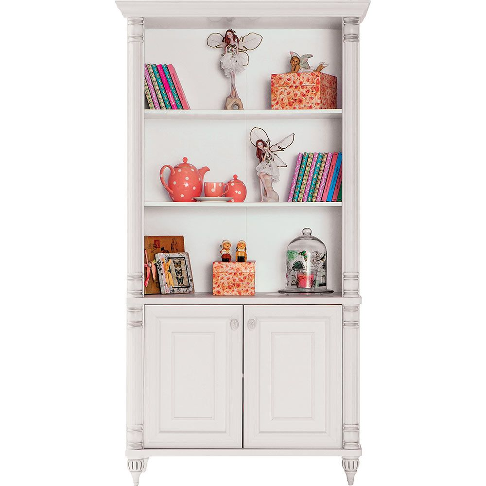 Romantic Large White Childrens Bookcase