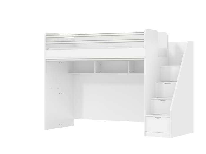 Oxford Childrens High Sleeper Beds And Stairs With Drawers